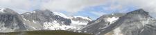 View Of Glarus Thrust Fault At Piz Segnes