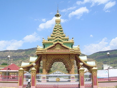 View Of Myanmar Gate, Dhamma Giri, Igatpuri