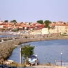 View Of Nesebars Old Town With The Wooden Houses Ancient Ruins A