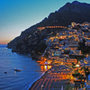 View Of Positano At Sunset