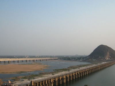 View Of Prakasam Barrage