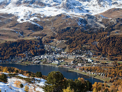 View Of St. Moritz