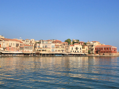 View Of The Venetian Port Of Chania