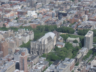View Of The Cathedral Of Saint John The Divine And Surrounding Grounds And Neighborhood