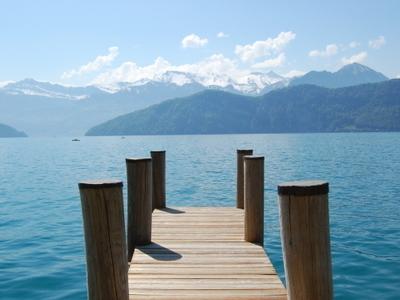 View From Weggis Toward Lucerne Lake