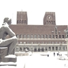 View Oslo City Hall With Sculptures