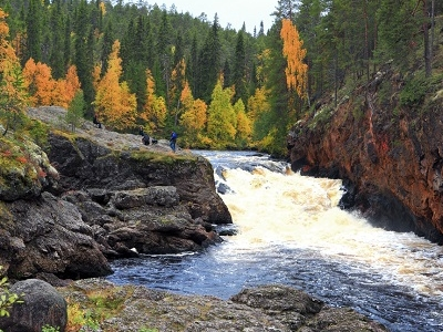 View Oulanka Canyon & River In Fall - Finland