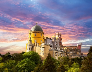 View Pena National Palace In Sintra - Portugal