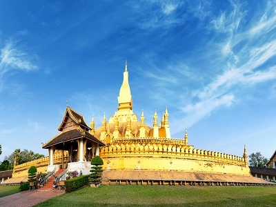 View Pha That Luang Golden Pagoda