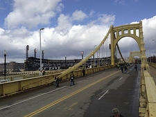 View Pittsburgh PA - Roberto Clemente Bridge