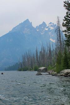 Views Along Jenny Lake Loop Trail - Grand Tetons - Wyoming - USA