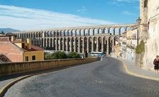 View Segovia Aqueduct In Spain