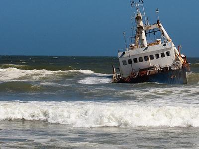 View Ship At Cape Cross - Namibia
