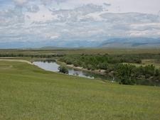 View Shishged River In Mongolia