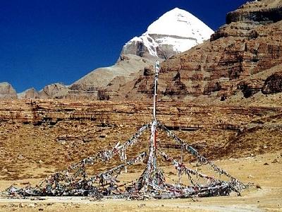 View Snow Clad Mount Kailash - Tibet China