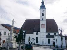 Views Of The Stadtpfarrkirche St. Magdalena, Scheibbs, Austria