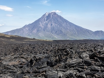 View Tolbachik Volcano - Kamchatka Peninsula