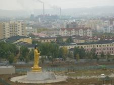 View Ulaanbaatar With Saisan Memorial Buddha Statue