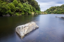 View Urewera NP From Lake Waikaremoana - North Island NZ