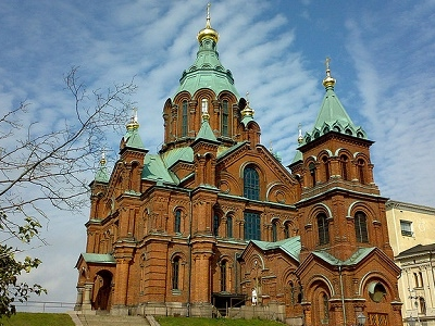 View Uspenski Cathedral From Below - Uusimaa Finland