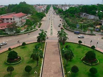 View Vientiane From Patuxai