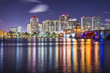 View West Palm Beach FL At Night