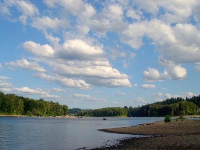 View Willamette River In Oregon
