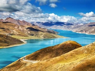 View Yamdrok Lake In Tibet Autonomous Region - China