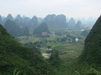 View Yangshuo From Moon Hill