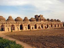 Vijayanagara Elephant Stables Ruins - Karnataka - India