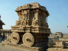 Vijayanagara Stone Chariot - Karnataka - India