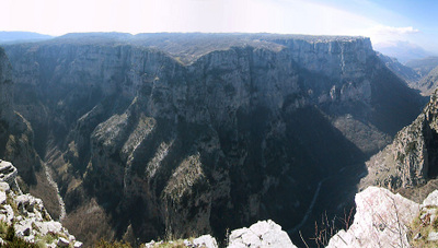 Panoramic View Of Vikos Gorge