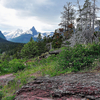 Virginia Falls Trail At Glacier - Montana - USA