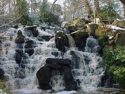 Virginia  Water  Lake Waterfall