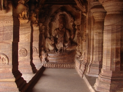 Vishnu Image In Cave Temple