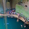 Visitors At Ik-Kil Cenote - Chichen Itza