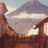 Volcán De Agua Seen From Antigua
