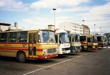 Volvo Coaches At Hameenlinna - Finland
