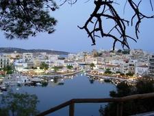 Lake Voulismeni In Agios Nikolaos