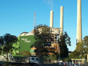 Punto de Vales de la central eléctrica
