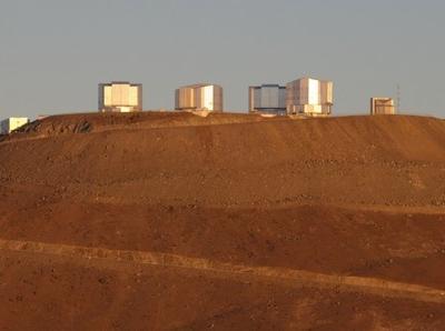 Very Large Telescope Units On Cerro Paranal