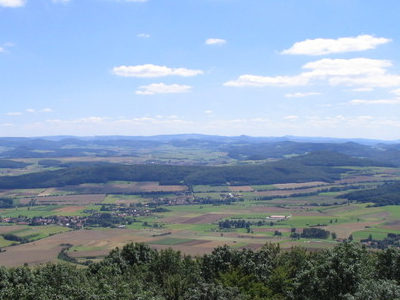 View From The Soisberg Looking South Towards The Rhn