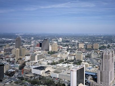 Downtown San Antonio From Tower Of The Americas