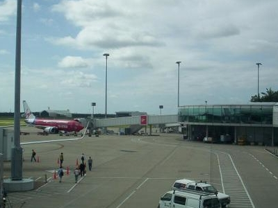 Virgin   Blue   Airliners  At  The   Brisbane   Airport  Domesti