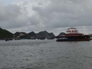 View Of Cat Ba Floating Fish Restaurant