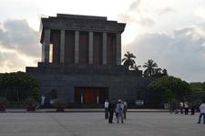 Visitors At Ho Chi Minh Mausoleum