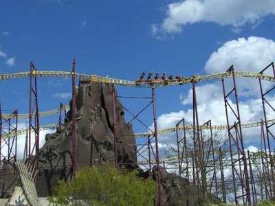 Volcano The Blast Coaster In Action