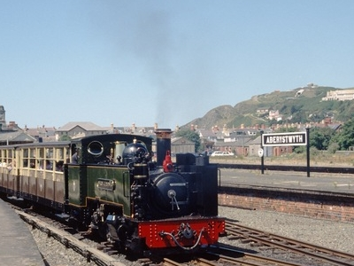 Train With No 7 Leaving Aberystwyth Station