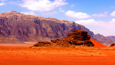 Wadi Rum Landscape In Jordan