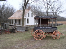 Wagon And 1881 Moses Carver House